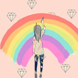 rainbows freetoedit