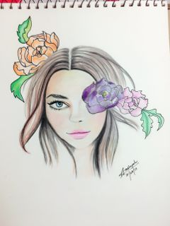 art drawing sketch portrait girl freetoedit