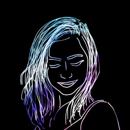 freetoedit overlay sketched galaxy girl
