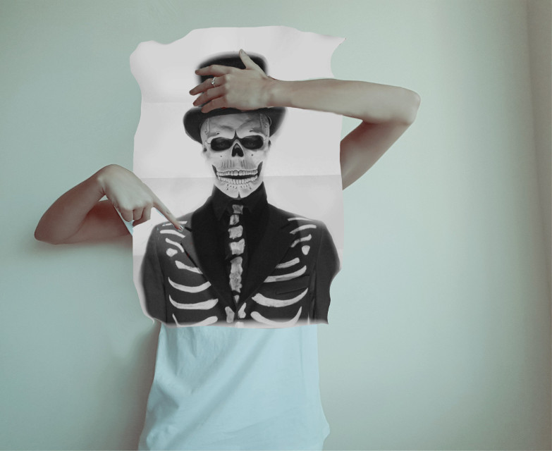 #myedit #creative #artistic #skull #antiselfie