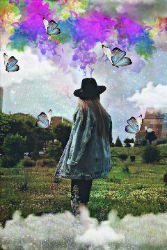 girl colors mariposa tumblr galaxy freetoedit