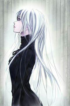 whitehaired animegirl thinking nashirosedits