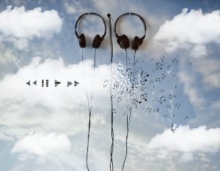 freetoedit clouds music musicnotes headphones