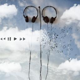 freetoedit clouds music musicnotes headphones dispersiontool madewithpicsart stickers picsart