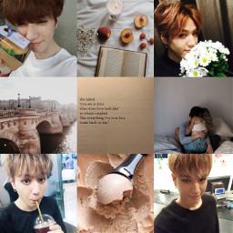 got7 kimyugyeom aesthetic brown moodboard