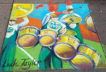 chalkart mydrawing drawing colorful marchingband