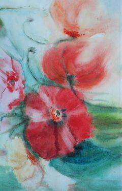 freetoedit handmade flowers watercolor