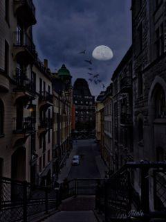 freetoedit remixed nighttime moon