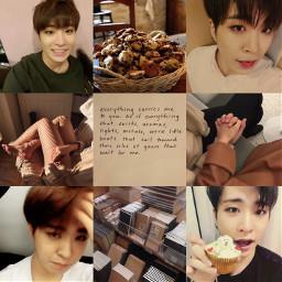 got7 choiyoungjae moodboard aesthetic brown soft