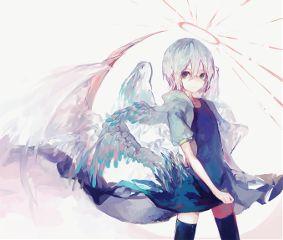 animegirl cute colorful digitalart serious