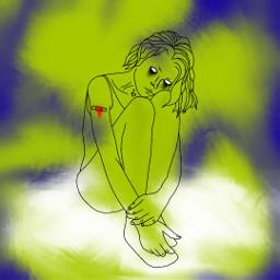 freetoedit remixit girl blur myart