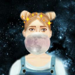 freetoedit cute spacegirl girl fab