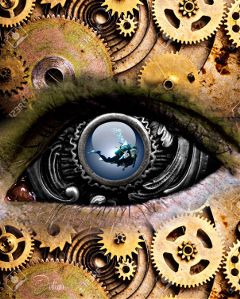 freetoedit hdr mechanical diving surrealism