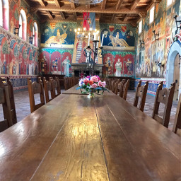 table paintings challender castle napavalley