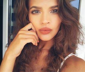 me girl tan eyes lips freetoedit