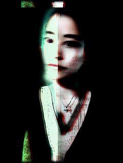 freetoedit woman portrait holga dark