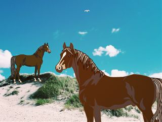 freetoedit horses mydrawing iphoneonly beach