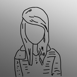 freetoedit girl balck grey sketched