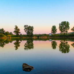 nature lake mirror colorful trees