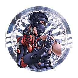 freetoedit genji blackwatch overwatch black