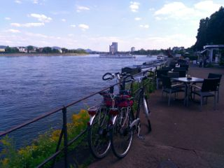 transportation cruise bicycles river outdoors