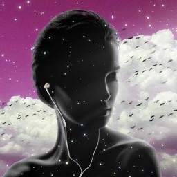 freetoedit girl woman clouds pink