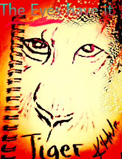 freetoedit my tiger pain eyes
