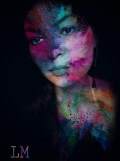 colorful powmagiceffect powder portrait beauty