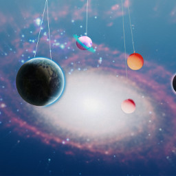 freetoedit space balloons planets universe