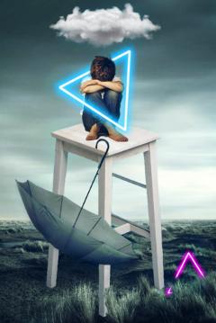 triangle neon sadboy sadness cloud freetoedit