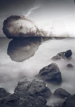 freetoedit blackandwhite portrait sadness depression