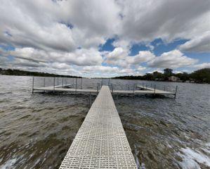 lake pier panoramic sky clouds freetoedit