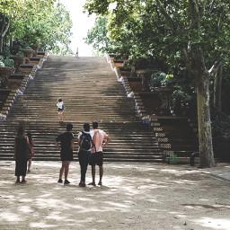 barcelona stairs adventure