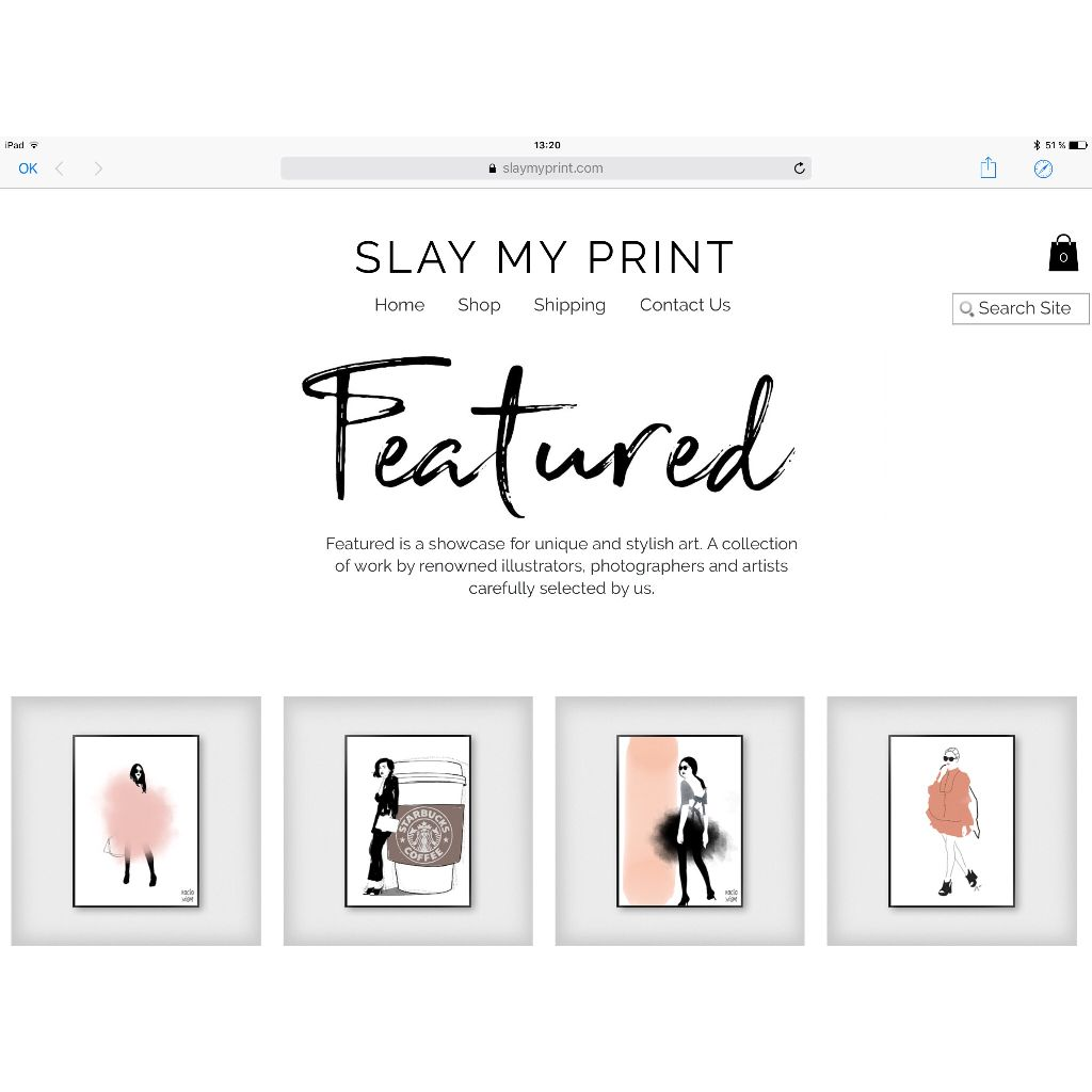 I'm so happy to be a featured artist at the great Slay my print shop!!!