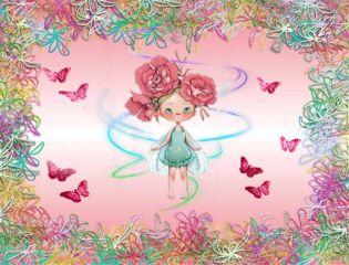 background frame girl fairy fairytrails freetoedit