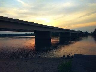 freetoedit wisconsinriver river bridge sunset