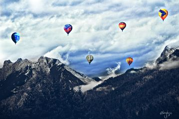 freetoedit photography colorful balloon mountain