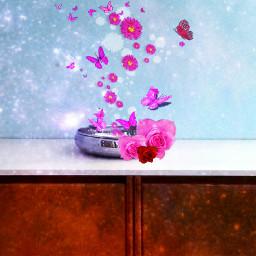 freetoedit pink floweredit decorationremix