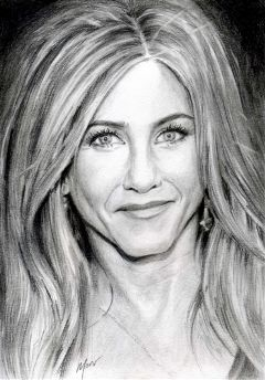 drawing pencilart portrait hollywood jenniferaniston
