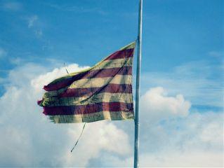 freetoedit flag old sky clouds
