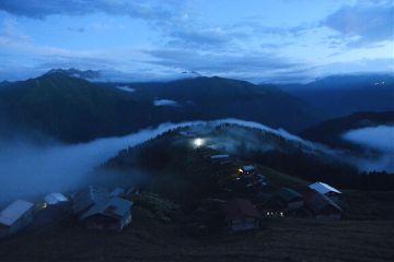mountain night sky nature homes