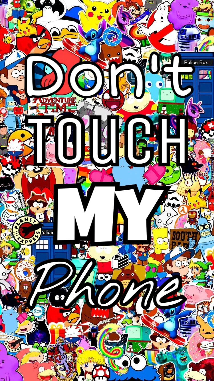 #wallpaper #phone #donttouch #my #colorful #cute #interesting #art