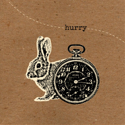 collage cutandpaste composition digitalart edit graphic hurry time clock rabbit late offwhite