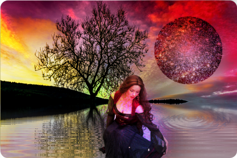 #dailystickerremix #starrystickerremix   #woman #landscape #water #surreal #myedit #madewithpicsart
