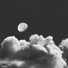 freetoedit moon clouds blackandwhite myoriginalphoto