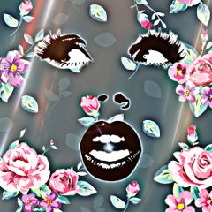 freetoedit art glitter faces scared