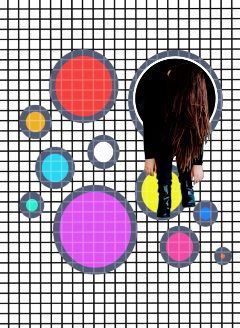 freetoedit woman dotted geometricshapes circle