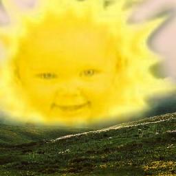 freetoedit xd sun teletubbies remixdiario