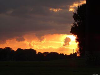 nofolter sunset orange clouds