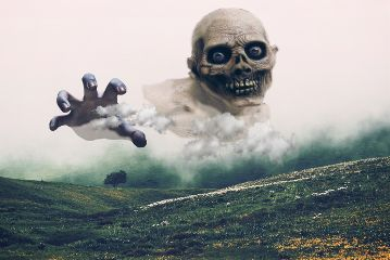 mysteriouslandscape freetoedit creepy scary skull
